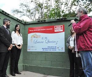 Escola Municipal Laura Queiroz inaugura sistema de captação de água de chuva