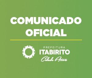 Comunicado – Secretaria de Saúde