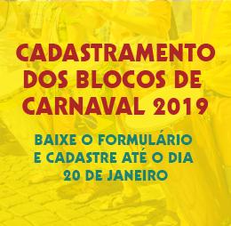 Cadastramento – Blocos de Carnaval 2019