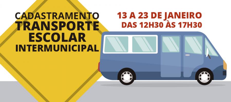 Cadastramento Transporte Escolar Intermunicipal
